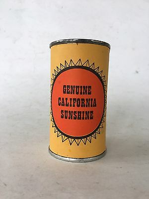 Vintage Genuine Sunshine In Can Small Old California State Travel Souvenir