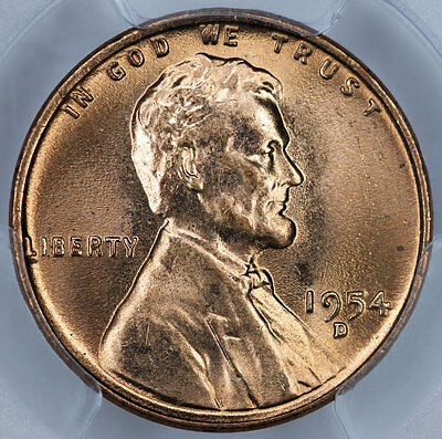 1954-D PCGS MS66RD Lincoln Cent