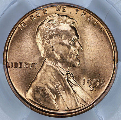 1953-D PCGS MS66RD Lincoln Cent