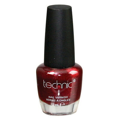 Technic Nail Polish - Ruby Red Glossy Bright Colour Nails Varnish Cherry Dark