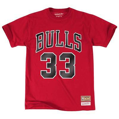 Mitchell & Ness Scottie Pippen #33 Chicago Bulls Name & Number NBA Tee Rot