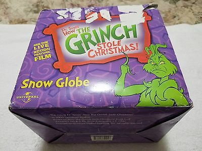 Universal Studios Dr. Seuss How The Grinch Stole Christmas Snow Globe Pre-Owned