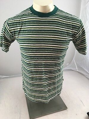 Vtg 80s Bugle Boy Striped T-Shirt Sz Boys L Multi-Color Made In USA RARE KNIT