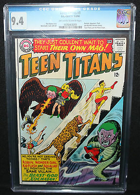 Teen Titans #1 - Batman, Aquaman, Flash & Wonder Woman - CGC Grade 9.4 - 1966