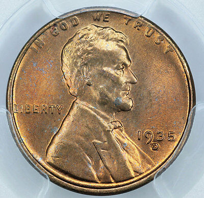 1935-D PCGS MS66RD Lincoln Cent