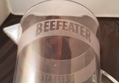 Beefeater Drink Pitcher Clear Acrylic Bar-ware with Lid