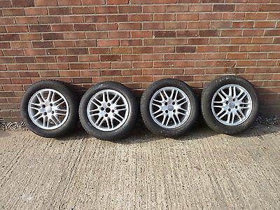 "Ford Focus Mk1 15"" alloy wheels and 195 60 15 Goodyear tyres set of four"