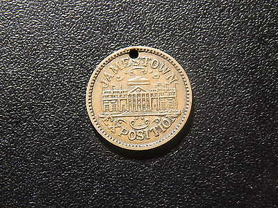 Jamestown Exposition 1607 - 1907 Old Church Tower Token!  Nn123Scx2