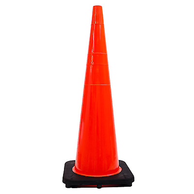 "36"" RK Orange Safety Traffic PVC Cones with Black Base"
