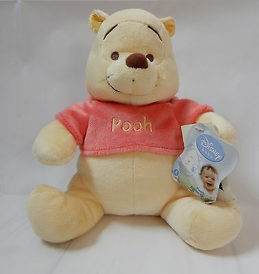 "Disney Winnie the Pooh  Baby Infants Toddler Rattle Stuffed Toy New  8"" Tall"