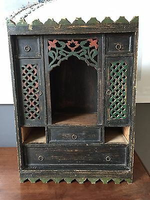 Vintage Indian (?) table cabinet with lovely detail and drawers