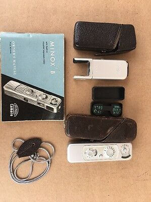 Minox-B-Subminiature Spy Camera With Flash And Case