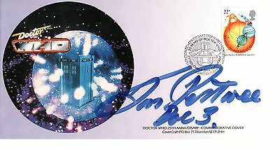 DR WHO COVERCRAFT COVER DR WHO 25th ANNIVERSARY SIGNED BY JON PERTWEE