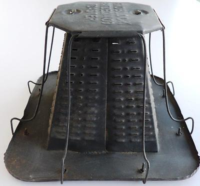 Vintage 1909 Knoblock Antique Rustic Metal Camp Fire Bread Toaster - Free Ship