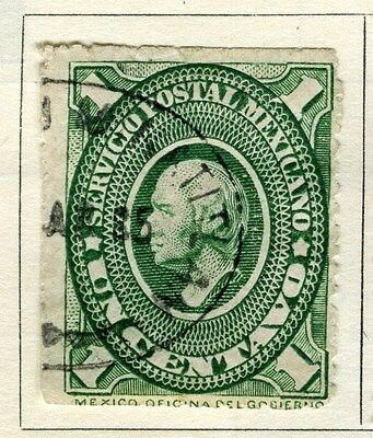 MEXICO;   1885 early classic Hidalgo issue fine used 1c. value