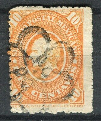 MEXICO;   1885 early classic Hidalgo issue fine used 10c. value