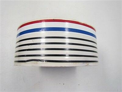 "Pinstripe Decal Tape Black White Blue Red 2 7/8"" X 300' Marine Boat"