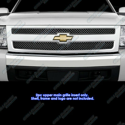 For 2007-2013 Chevy Silverado 1500 Stainless Steel X Mesh Blitz Grille Grill