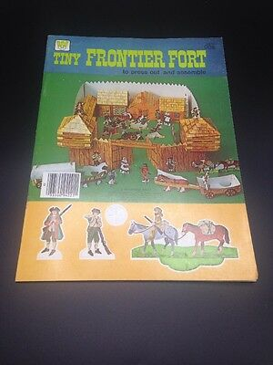Vintage Whitman TINY FRONTIER FORT Press Out book UNUSED from 1975 New