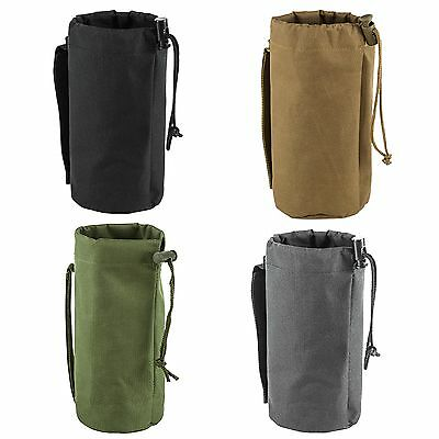 NcSTAR CVBP2966 Tactical MOLLE Hunting Draw Cord Hydration Water Bottle Pouch