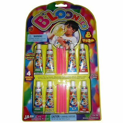 B'loonies Plastic Balloons Variety Pack, 8 Tubes of Assorted Colors #233626
