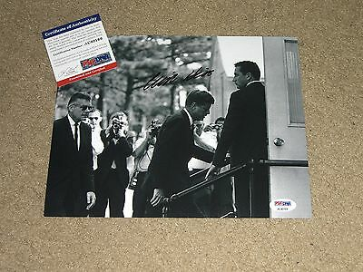 Clint Hill Signed Autographed 8X10 Photo Rare Jfk Assassination Look Psa Dna 4