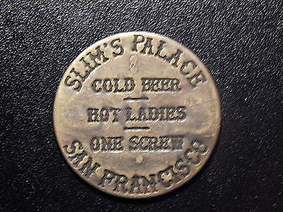 Slim's Palace San Francisco Good For All Night Token!  Nn135Txx