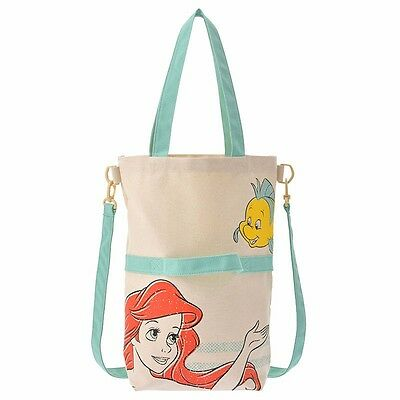 Little Mermaid Ariel Flounder Canvas Tote Bag 3 way from Disney Japan