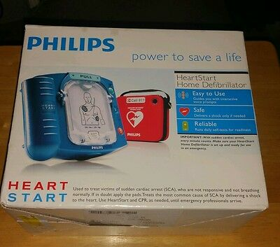 NEW Philips HeartStart Home AED Defibrillator HS1 + Red Case M5068A