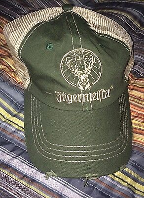 Jagermeister Baseball Style  Hat Adjustable Army Green *NEW*