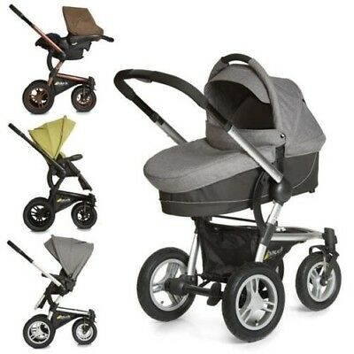 Hauck King Air Plus Trio Set Combination pram Carrycot & Carry cot 0+ to choose