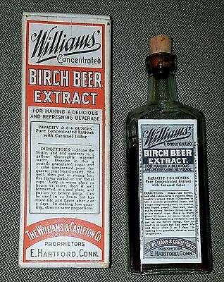 Antique  Williams & Carleton Co Concentrated Birch Beer Extract Bottle Excellent