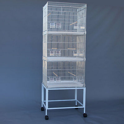 Galvanised Breeding Bird Cages on Stand for Canary Parakeet Budgie Cockatiel