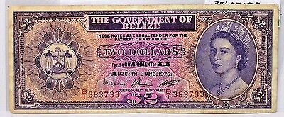 Belize 1975 $2 dollars Pick# 34b .Circulated Note