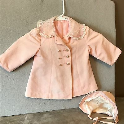 Hand Made Exquisite Antique Toddler Girl Coat & Bonnet! Hand~Made! Beautiful!