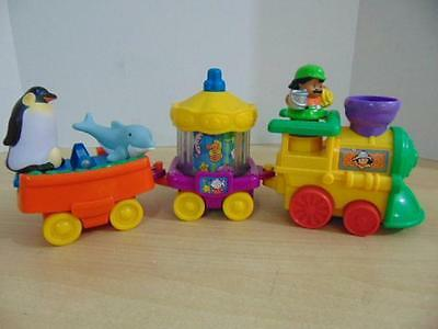 Fisher Price Little People Real Sounds Aquarium Zoo Train With Penguin Dolphin