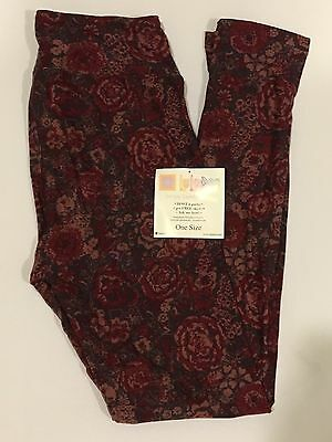 LuLaRoe Floral leggings size OS One size. New with tags.