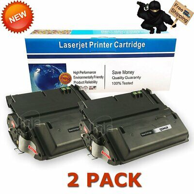 2 PK Q5942X 42X High Yield Toner Cartridge For HP Laserjet 4250 4350 4200 4300