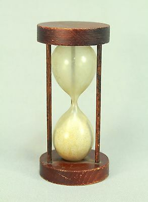 * 1800's Antique Blown Glass & Wood Hourglass Sand Timer Clock