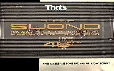 That's Suono 46 Metal Tape For Master Recording NEW Sealed