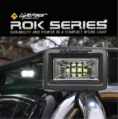 Lightforce LED ROK20 Ultra Flood Work Light 20W (2x10W CREE) 5000K CBROK20UF