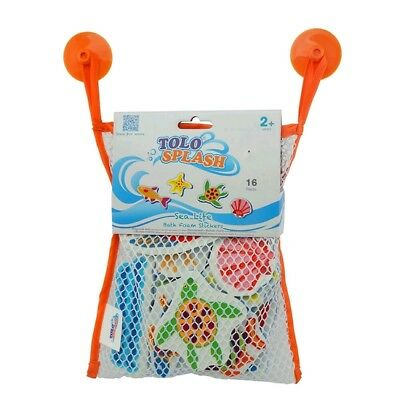 NEW Tolo Toys Sea Life Ocean Animals Foam Bath Stickers - 16 pieces
