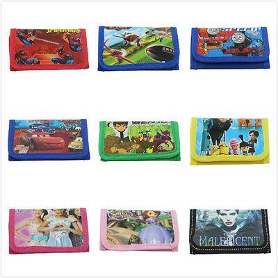 Kids Children Boys Girls Cartoon Character Wallet,Coin Purse, Gifts Sofia Thomas