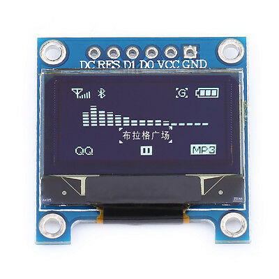 "0.96"" I2C IIC SPI Serial 128X64 White OLED LCD LED Display Module fr Arduino NEW"
