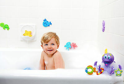 Nuby Baby Play Time Fun Floating Multi-Coloured Octopus Toddlers Bath Toy +18m