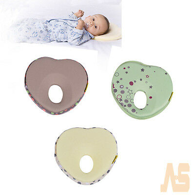 Newborn baby foam heart-shaped memory pillow prevent flat head support the neck