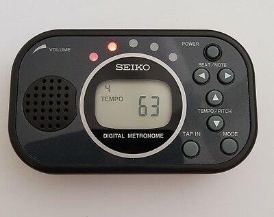 DIGITAL METRONOME SEIKO DM100 with TAP-IN FUNCTION & MUSIC STAND SLOT & VOLUME
