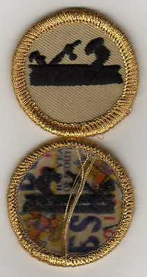"Historic Carpentry Merit Badge, Type K, ""BSA 2010"" Back (2010), Dark-Gold Brd."