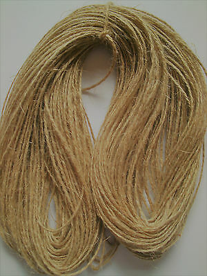 10/500M 1 Ply Luxury Natural Jute Hessian Twine/String Rustic Sisal Cord