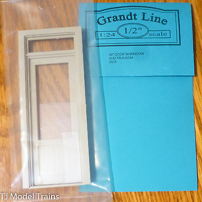 "Grandt Line #3915 (1:24th Scale) 36"" Door w/Window and Transom (Plastic Parts)"